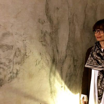 Firenze: Capella medici Disegni di Michelangelo nella stanza segreta sotto terra