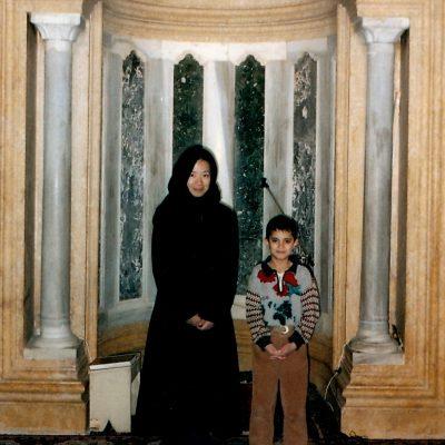 シリア アレッポのイスラム寺院内